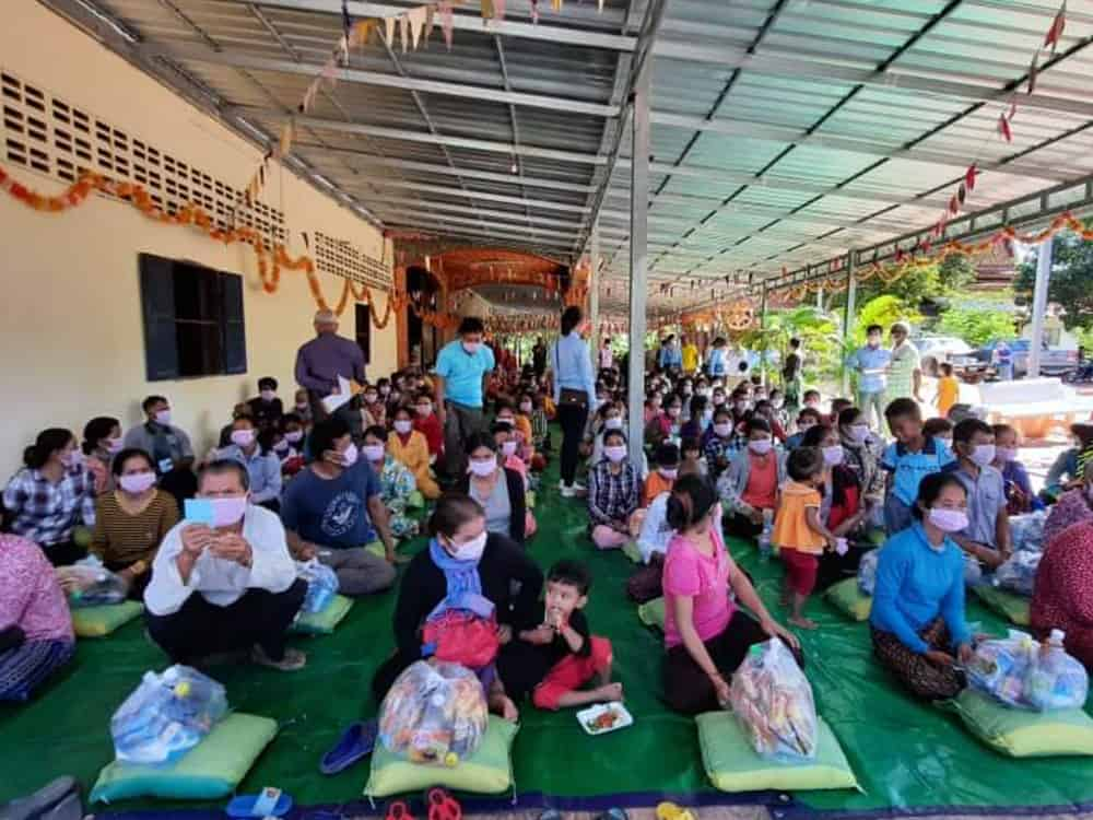 Cambodians Receive Food Donation The Together Project